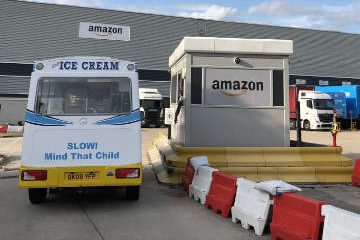 Amazon staff ice cream treat